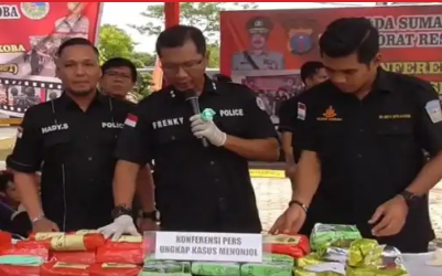 Pers rilis penangkspan 7 tersangka narkoba di Asahan dan Tanjungbalai.