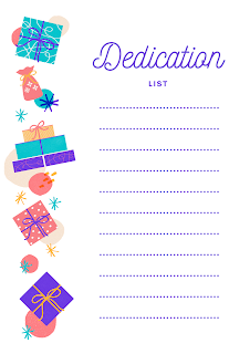 Dedication List