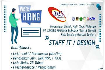 Lowongan Kerja Staff IT/ Design Sanabil Tours & Travel
