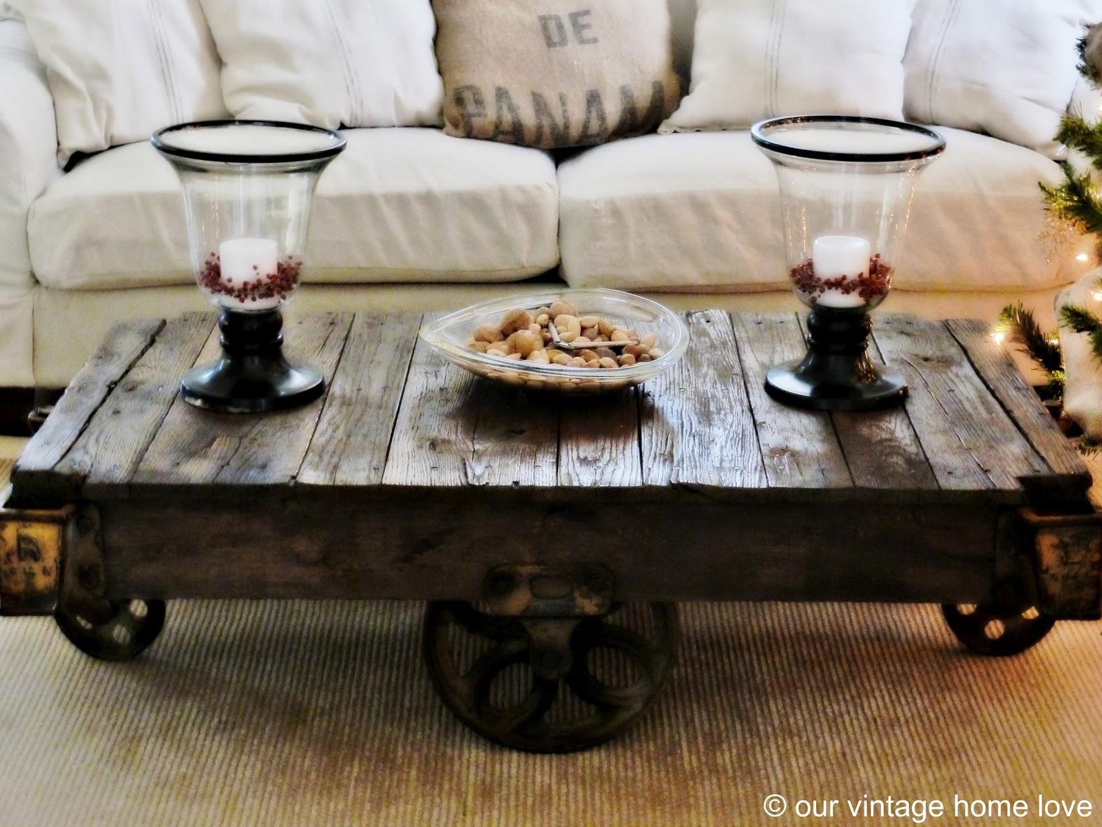 our vintage home love vintage industrial railroad cart. Black Bedroom Furniture Sets. Home Design Ideas