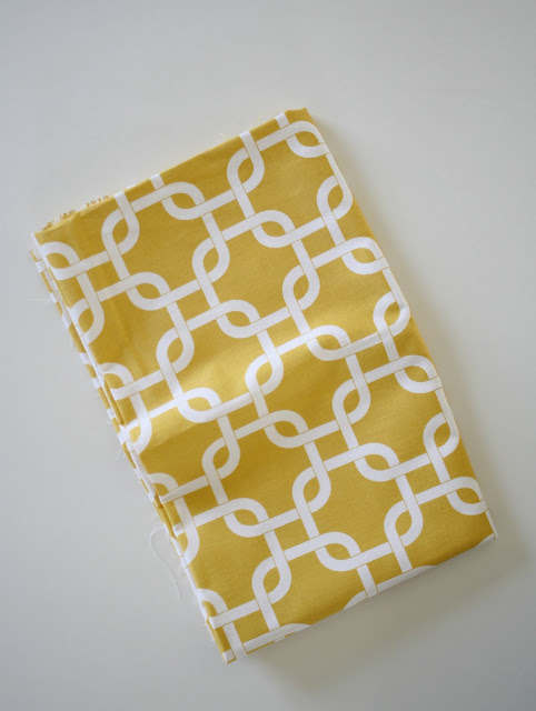 Yellow lattice print