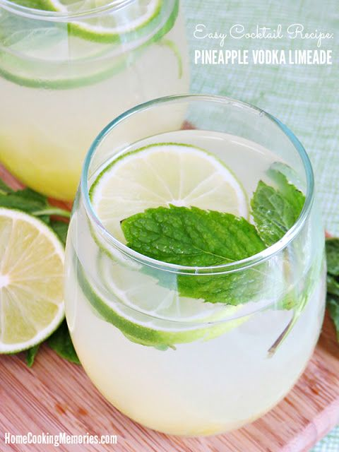 easy cocktail recipe pineapple vodka limeade