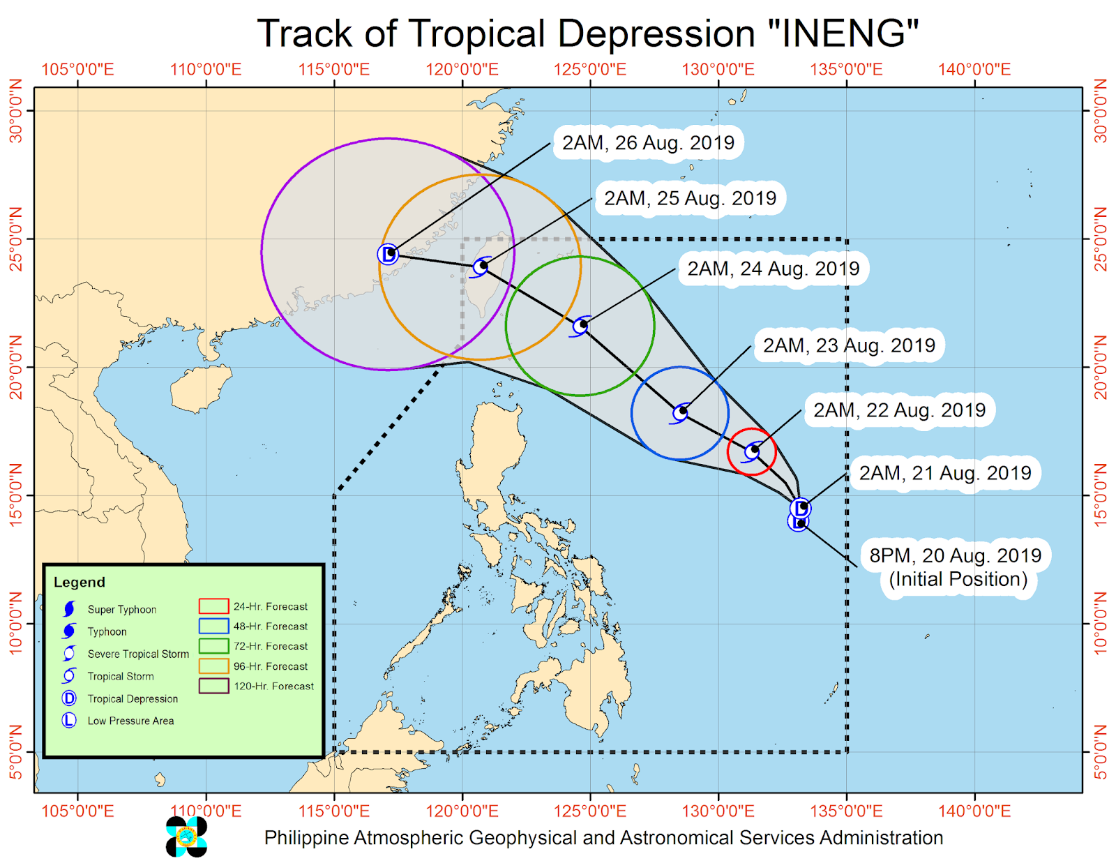 'Bagyong Ineng' is expected to exit the Philippine Area of Responsibility (PAR) on Sunday evening