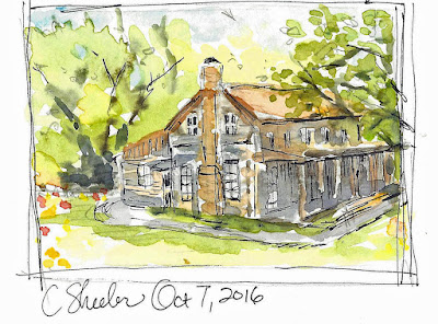 Watercolor quick sketch of Ivy Ranch by Christy Sheeler 2016