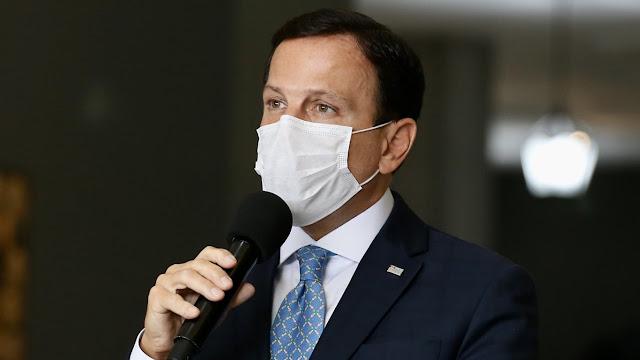 Governador de São Paulo, João Doria, diz que testou positivo para Covid-19