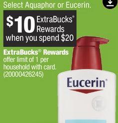 Eucerin & Aquaphor items.