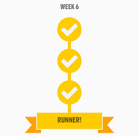 Couch to 5k Week 6 Completion Badge