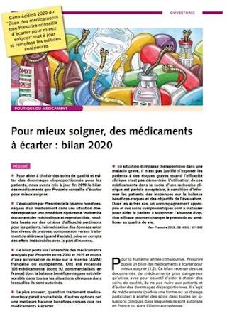 pour mieux soigner des médicaments a écarter bilan…