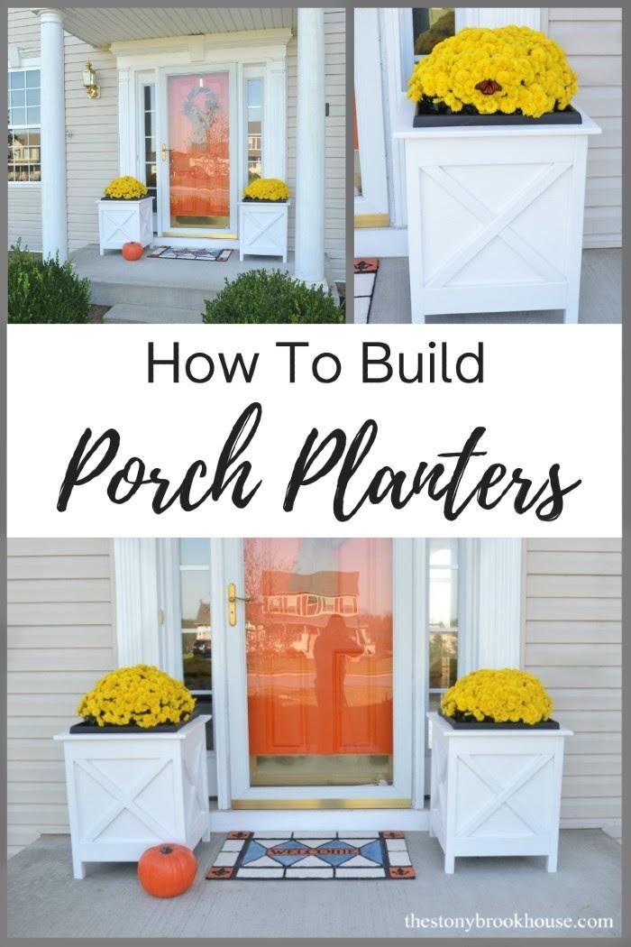 How To Build Porch Planters