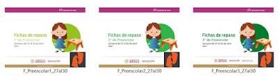 Fichas de Repaso Semanal para Preescolar