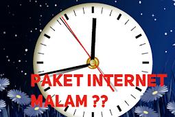 Perbandingan Paket Internet Malam Semua Operator