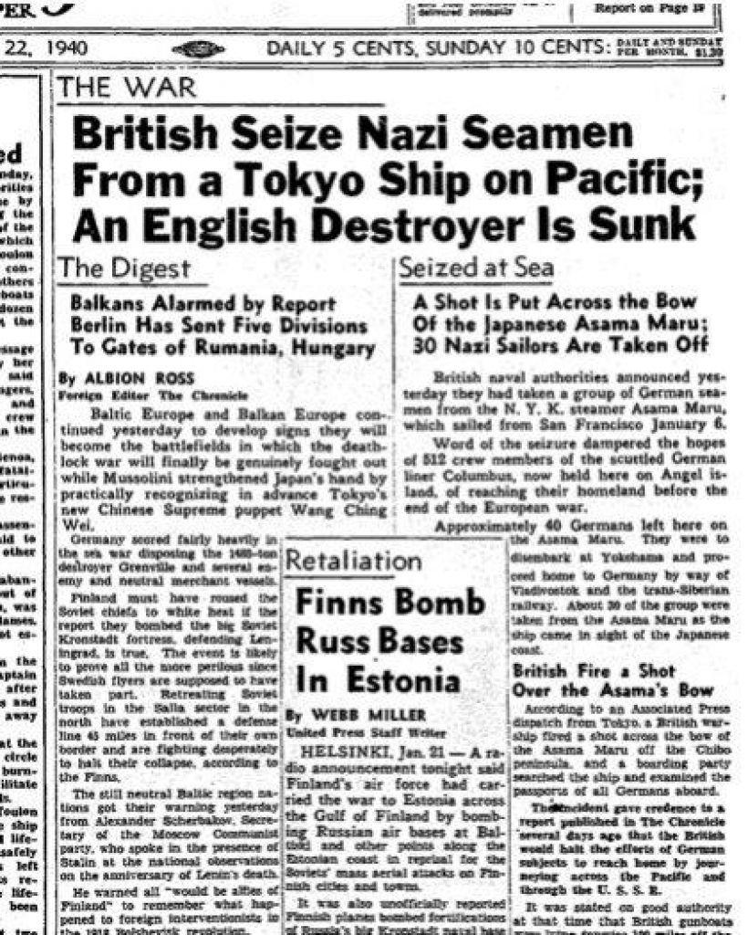 22 January 1940 worldwartwo.filminspector.com SF Chronicle