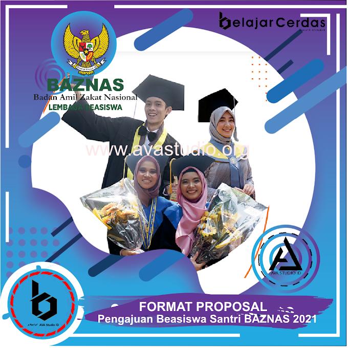 Format Proposal Pengajuan Beasiswa BAZNAS 2021 - Belajar Cerdas