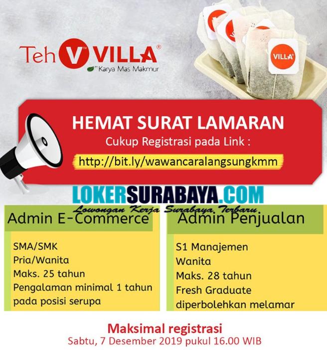 Info Lowongan Kerja Di Teh Villa Suarabaya Terbaru Desember 2019 Lowongan Kerja Surabaya Januari 2021 Lowongan Kerja Jawa Timur Terbaru
