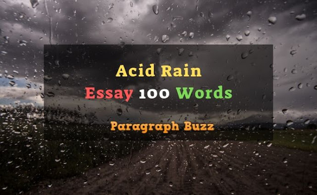 Essay on Acid Rain in 100 Words