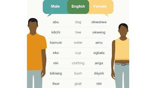 Ubang Village Male and Female Language Differences