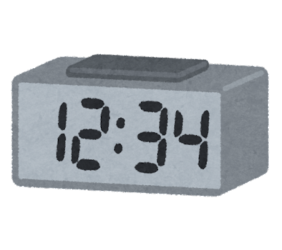 デジタル時計のイラスト