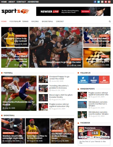 Sports Mag Blogger Theme Download