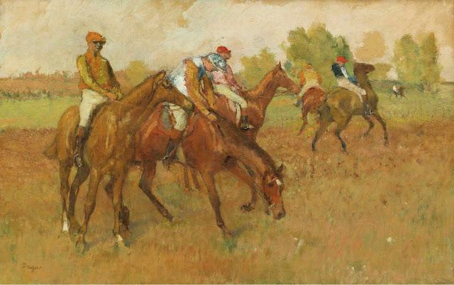 Эдгар Дега - До гонки (1882-1888)
