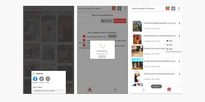 Aplikasi Video Downloader for Pinterest