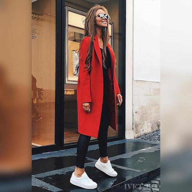 Γυναικείο  κόκκινο παλτό BEKA