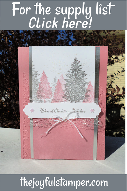christmas, pine trees, itty bitty christmas, evergreen forest 3d embossing folder, cardmaking, learn to stamp, how to stamp, how to make cards,  learn to make cards, stampin' up!, nicole steele, independent stampin' up! demonstrator, pittsburgh pa, the joyful stamper