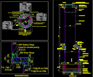 Typical GRP Structural Manhole  Details  autocad drawings
