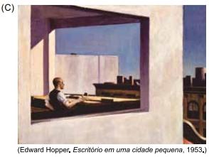Edward Hopper. Escritorio em uma cidade pquena, 1953