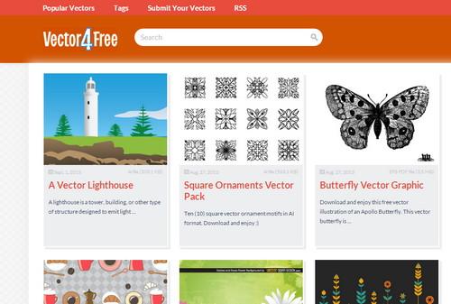 أفضل 10 مواقع لتحميل الفكتور مجانا موقع Vector4Free - مدونة Blog4Prog
