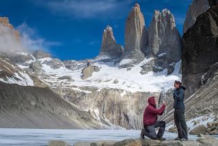 argentina honeymoon Hiking in patagonia