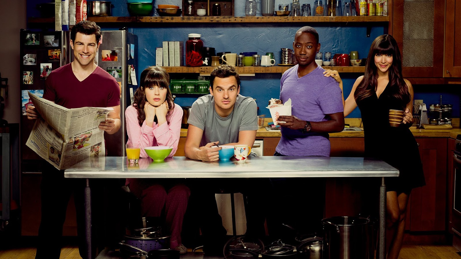 El cast de New Girl