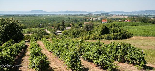 Majrhényi présház teraszáról kilátás a Balatonra
