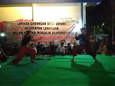 KPU Kota Tangerang Gelar Sosialisasi Lewat Seni Silat Betawi