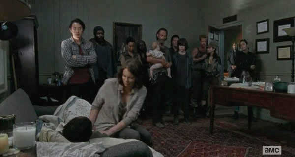Despedida de Bob en The Walking Dead 5x03 - Four walls and and a roof