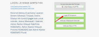 Cara Reset Ulang Password Simpatika PTK oleh Admin Madrasah