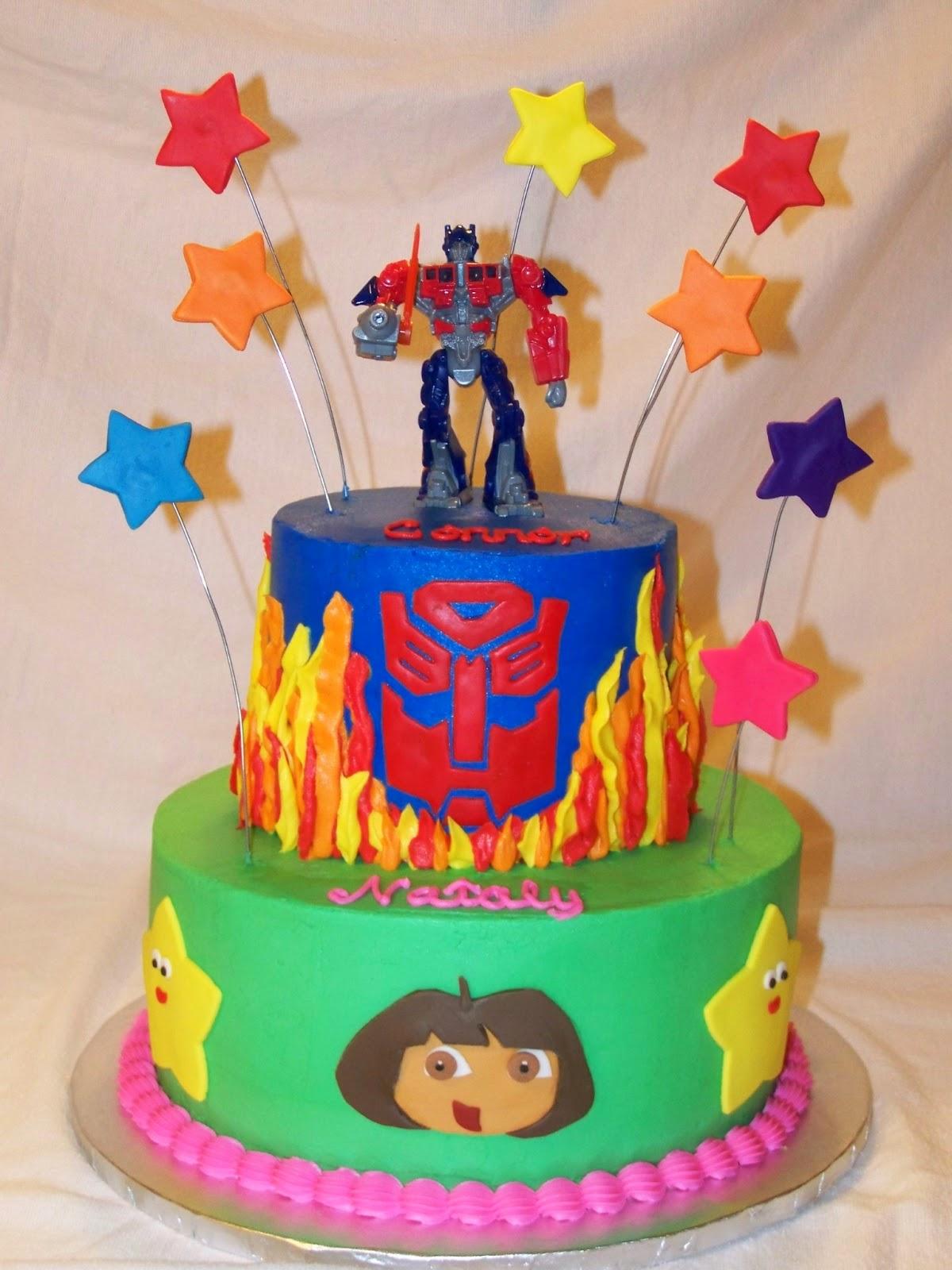Cakes By Kristen H Transformers Dora Cake