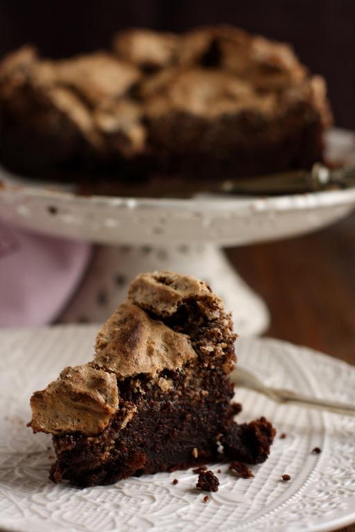 tarta chocolate brownie merengue