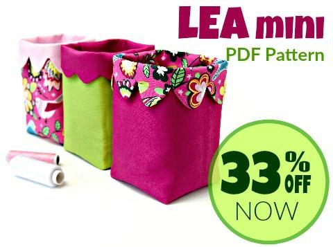 LEA Mini Fabric Bin Pattern
