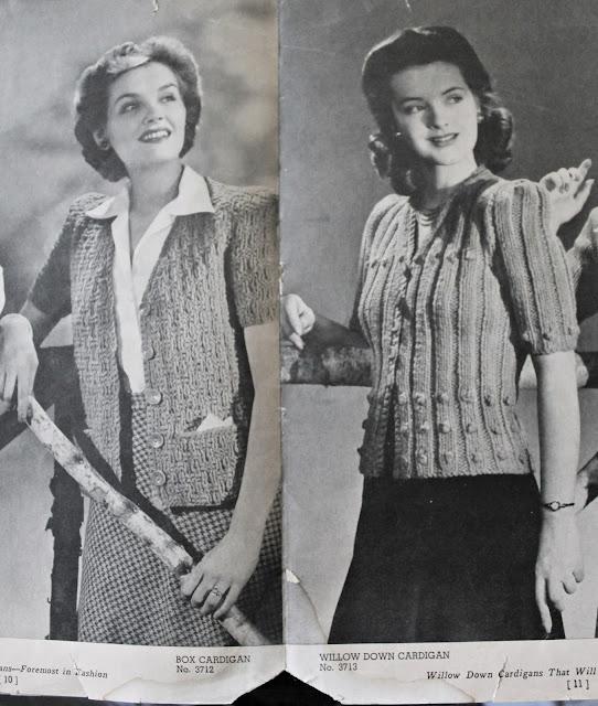 free 1940s cardigan knitting patterns