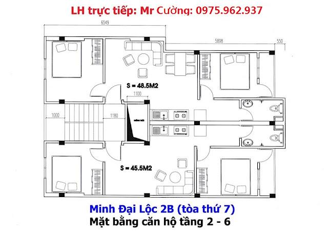 Bán chung cư Minh Đại Lộc 7- Sổ hồng- Vay Vốn Ngân hàng- từ 250 triệu