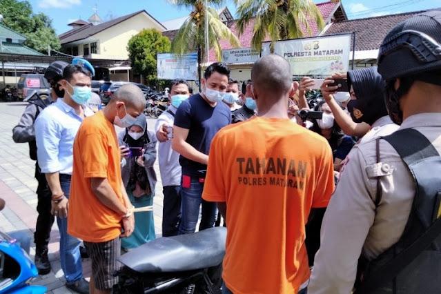 Tega! 2 pemuda ini curi motor milik tukang bersih Mushola di Mataram