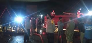 Kebakaran di Kota Sengkang Wajo, Polsek Tempe Lakukan Pengamanan di Lokasi