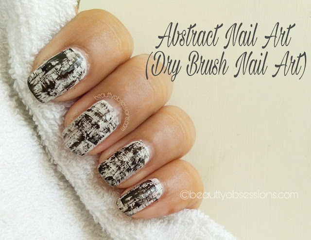 Easy & Simple Abstract Nail Art / Dry-brush Nail Art  Tutorial