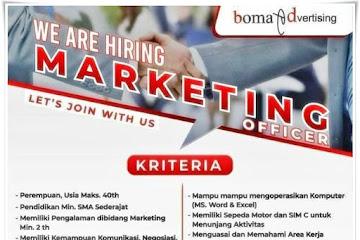 Loker Bandung Marketing Officer Boma Advertising