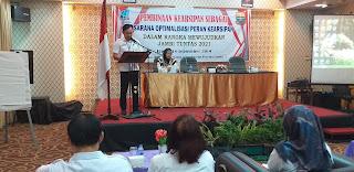 Kabid Konservasi Arsip Daerah Provinsi Jambi Secara Resmi Membuka Pembinaan Kearsipan.