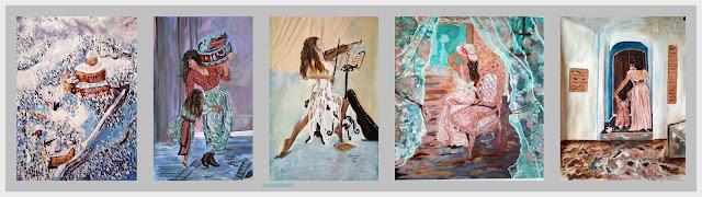 Έργα ζωγραφικής Αγαθής Γαλανοπούλου
