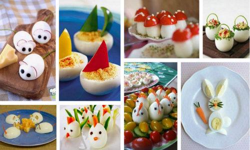 Ιδέες για να σερβίρετε πασχαλινά αυγά