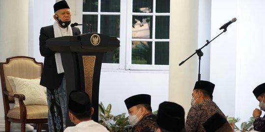 Terapkan Protokol Kesehatan, Wapres dan Istri Salat Idul Adha di Pendopo Rumah Dinas