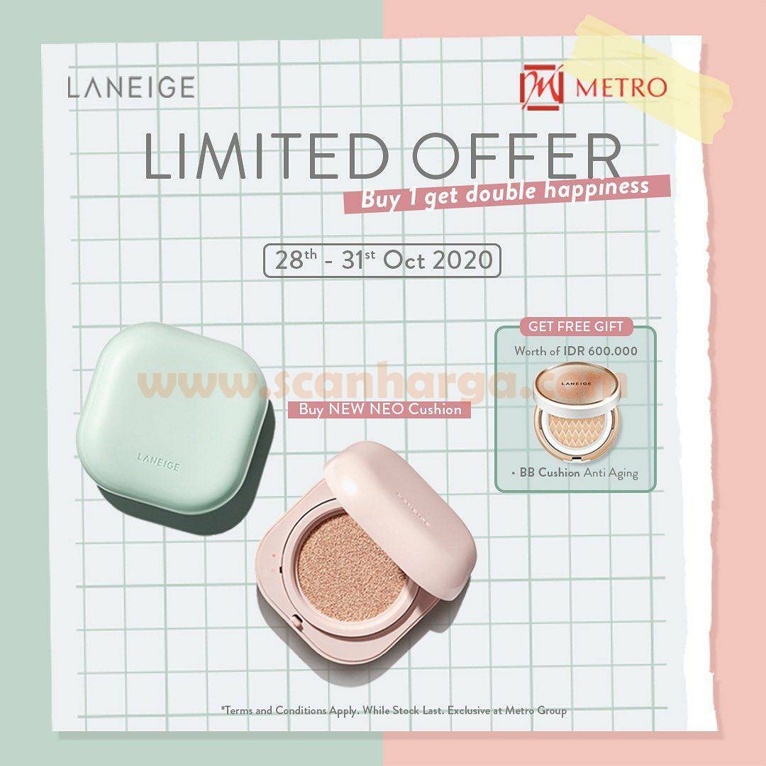 Metro Promo Laneige Limited Offer Buy 1 Get Double Scanharga