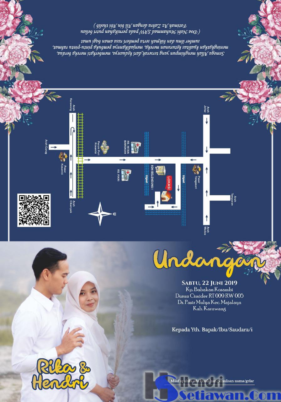 Contoh Desain Surat Undangan Pernikahan Simpel Kekinian